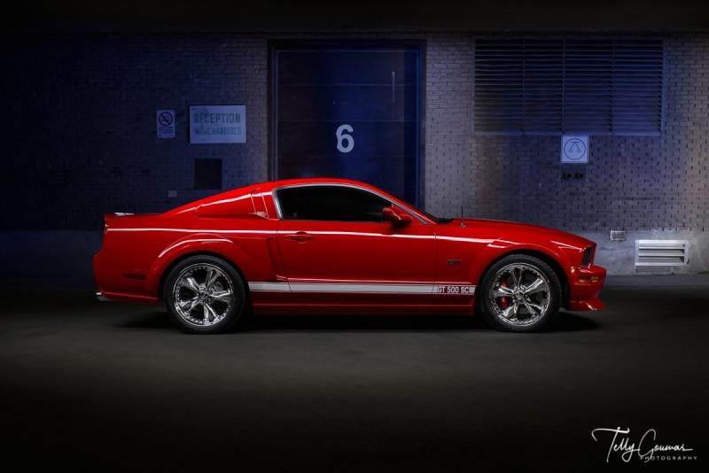 Red Mustang Lightpainted-Edit