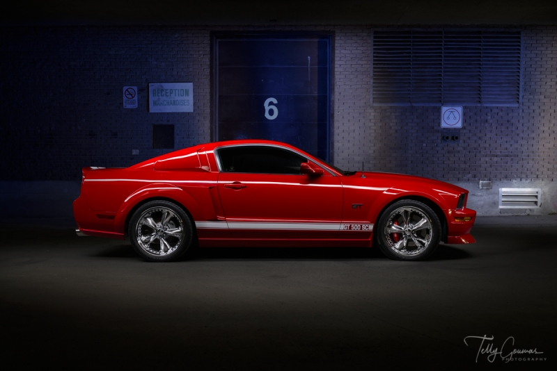 Red Mustang Lightpainted-Edit